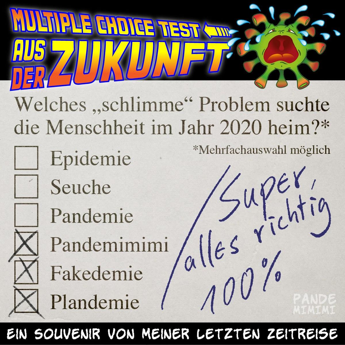 Multiple Choice Test aus der Zukunft, 20.08.2020