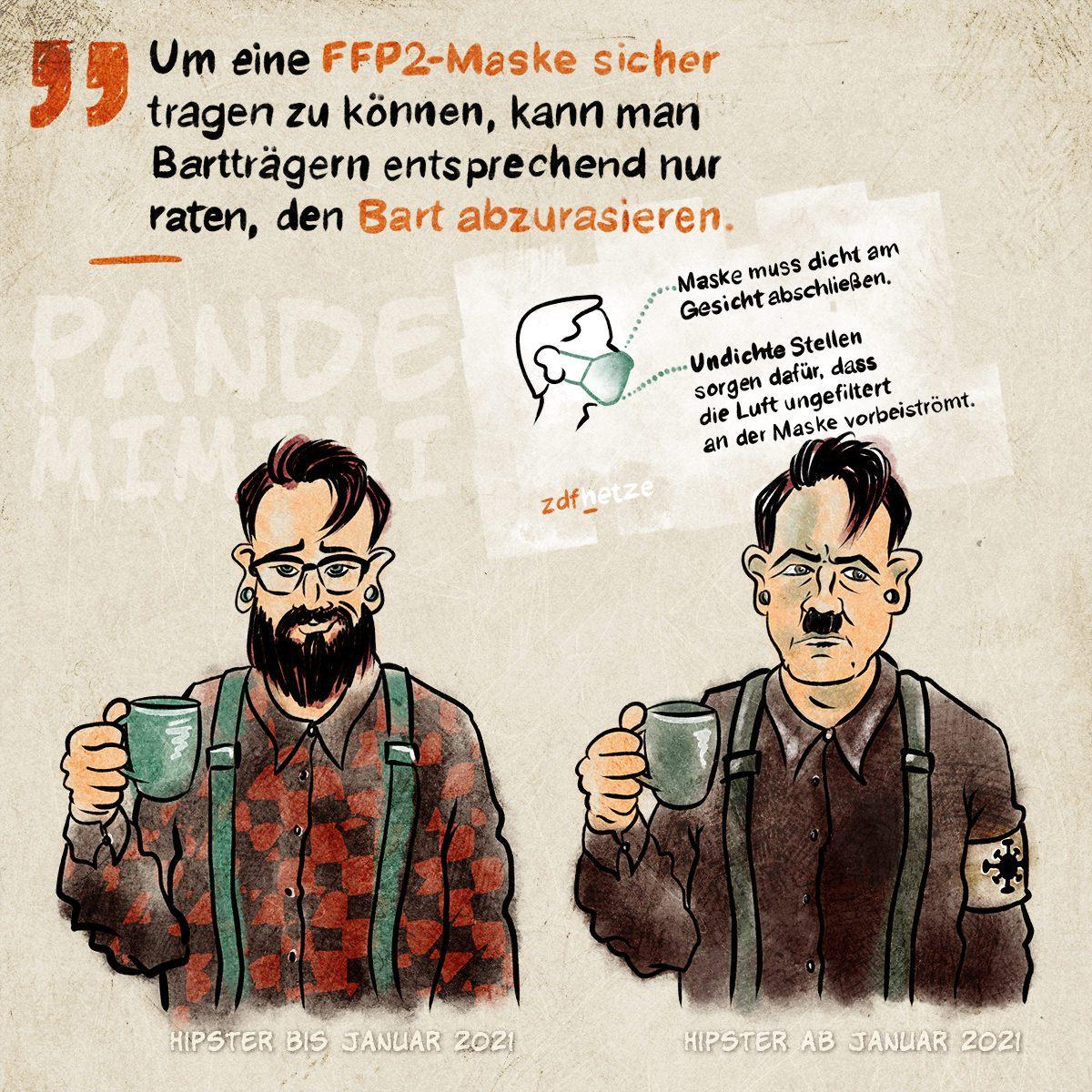 FFP2-Hipstler, 26.01.2021