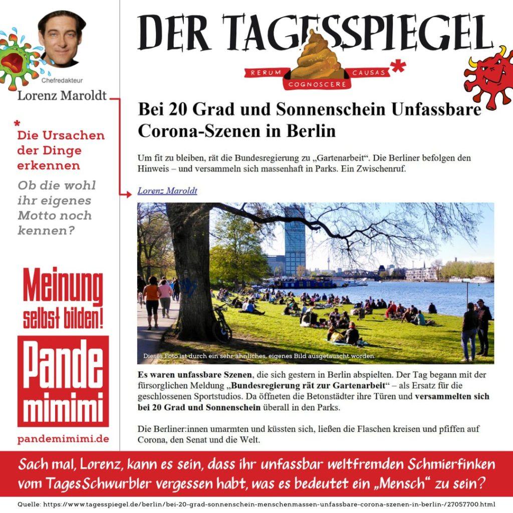 Chefschwurbler Lorenz Maroldt hetzt beim Tagesspiegel